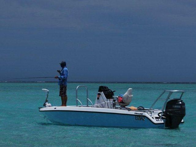 flats fishing boat